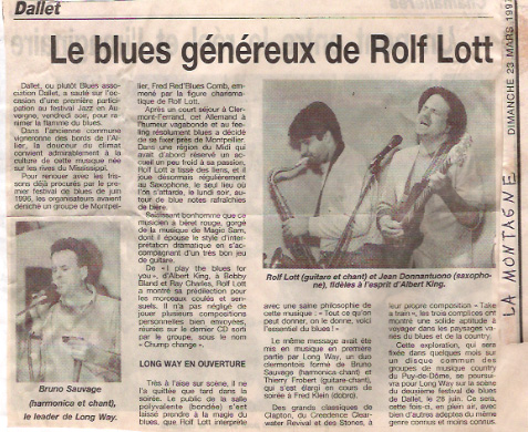 Article le blues genereux de rolf lott